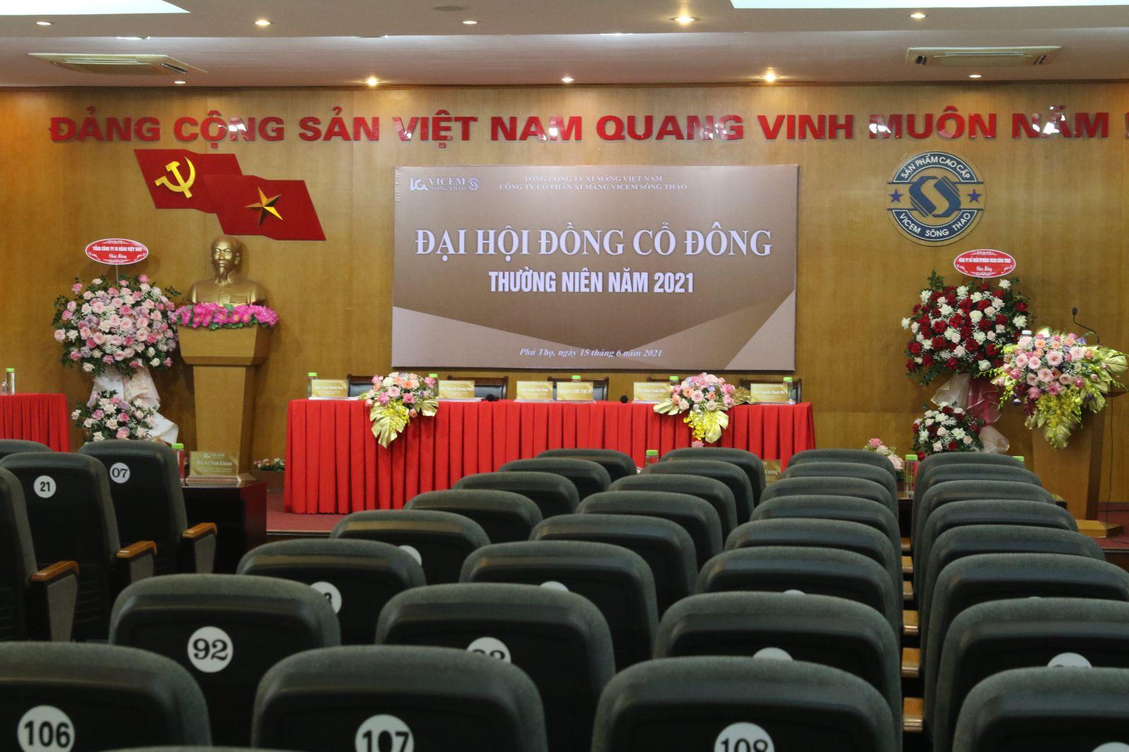 Công ty cổ phần xi măng Vicem Sông Thao tổ chức thành công Đại hội đồng cổ đông thường niên năm 2021